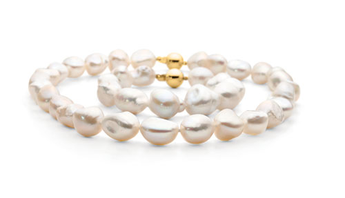 9ct Baroque Freshwater Pearl Strand 45cm