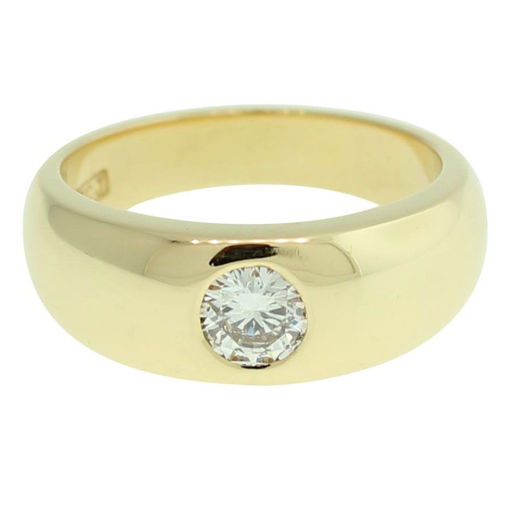 18CT YELLOW GOLD ROUND BRILLIANT CUT 0.50CT DIAMOND ENGAGEMENT RING 1