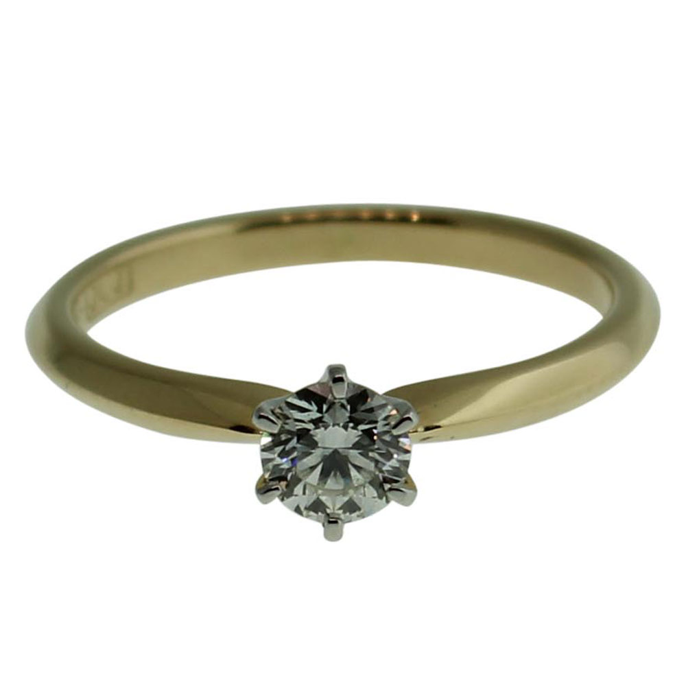 18CT YELLOW GOLD ROUND BRILLIANT 0.20CT DIAMOND ENGAGEMENT RING