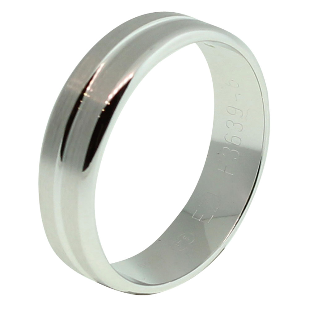 9CT WHITE GOLD 6MM WIDE