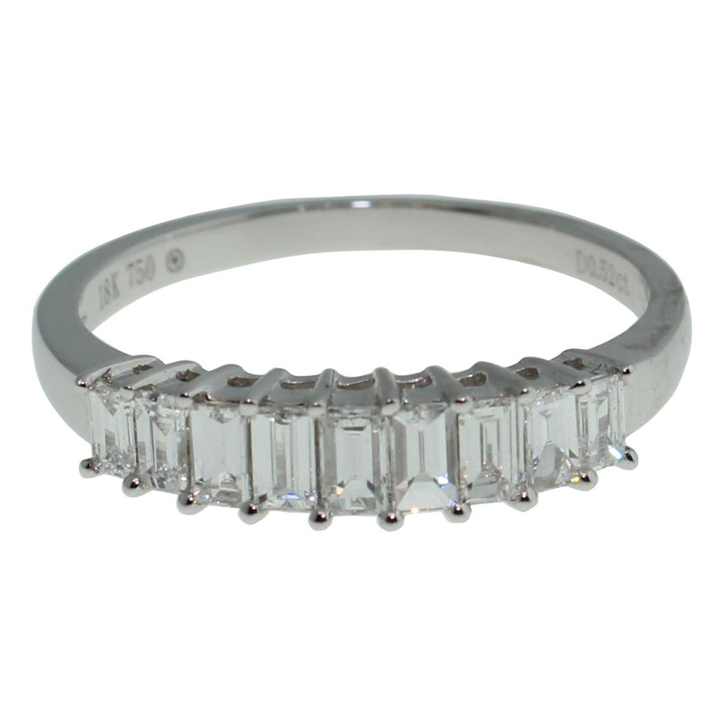 18CT WHITE GOLD BAGUETTE 0.52CT DIAMOND RING